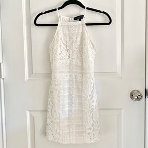 Top Shop White Lace Body Con Dress